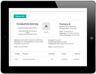 facturación electrónica gratis y online afip factura electrónica